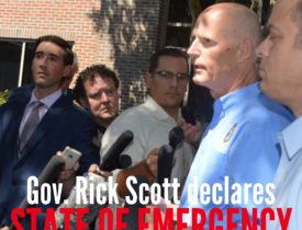 Florida Governor Declares State of Emergency for Tropical Storm Erika